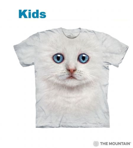 Ivory Kitten Face - Kids Cat T-shirt - The Mountain®